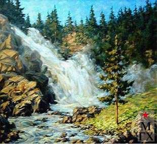А.С. Лысенко. Водопад. 2002. Х.М. 100х90.