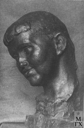 Л.Д. Муравин. Портрет скульптора Брандейс.