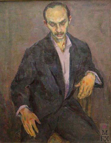 Д.И. Рубинштейн. Портрет художника Мальта. Х.М. 100х80..