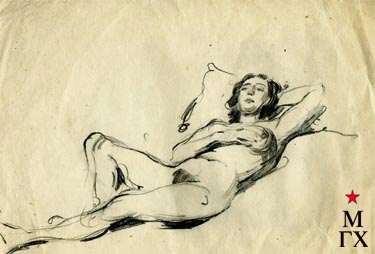 С.Ф. Шурпин. Спящая. Бум.Кар.